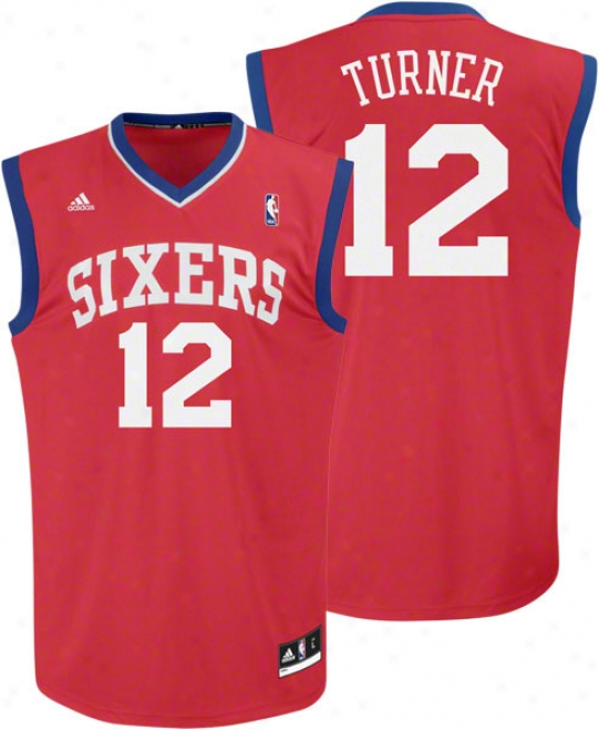 Evan Turner Jersey: Adidas Revolution 30 Red Replica #12 Philadelphia 76ers Jersey