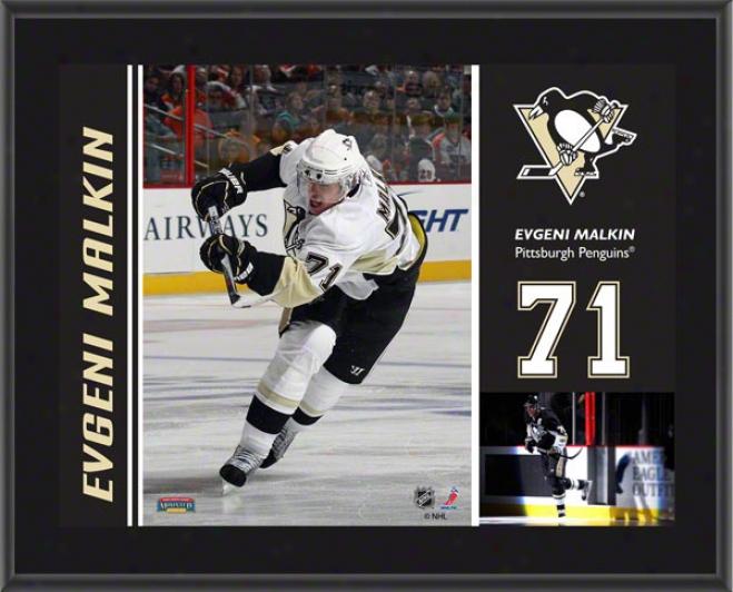 Evengi Malkin Plaque  Details: Pittsburgh Penguins, Sublimated, 10x13, Nhl Plaque