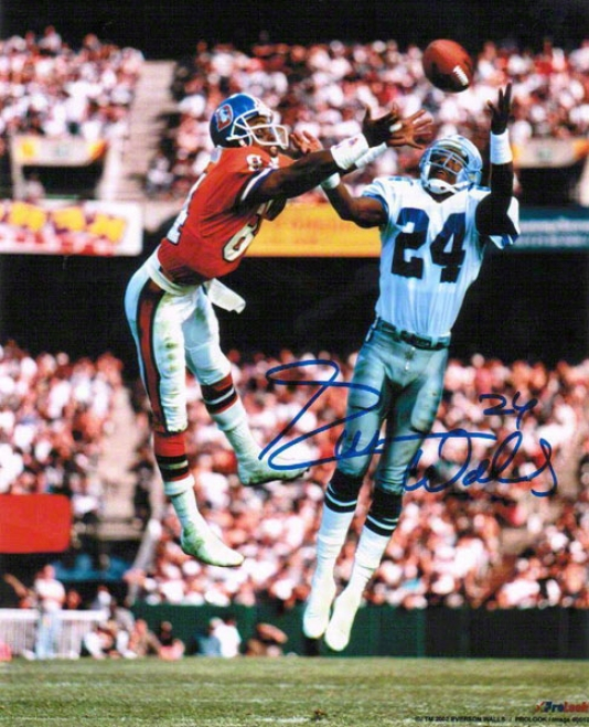 Everson Walls Dallas Cowboys Autographed 8x10 Photo Looking For The Int