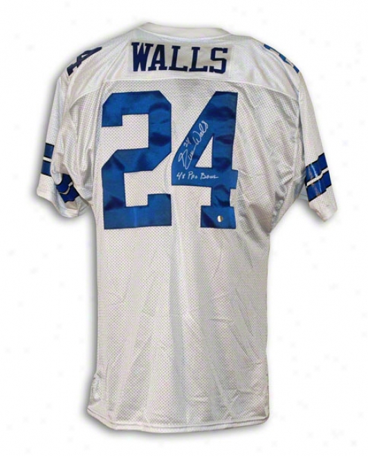 Everson Walls Dallas Cowboys Autographed White Throwback Jersey Inwcribed 4x Pro Bowl