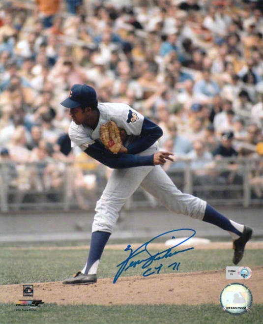 Fergie Jenkins Autographed hPotograph  Details: Chicago Cubs, 8x10, Cy 71 Inscription