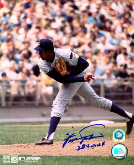 Fergie Jenkins Chicago Cubs Autographed 8x10 Photo W/ Inscription &quot284 Wins&quot