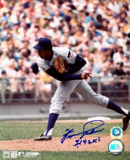 Fergie Jenkinw Chicago Cubs Autographed 8x10 Photograph With 3192 Ks Inscription