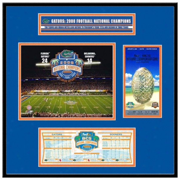 Florida Gators 2008 Bcs Champions My Ticket Frame Jr.