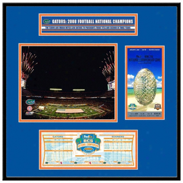 Florida Gators 2008 Bcs Champions Replica Ticket Frame Jr.
