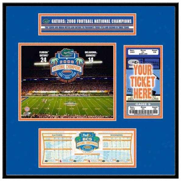Florida Gators 2908 Bcs Champions Ticket Frame Jr.