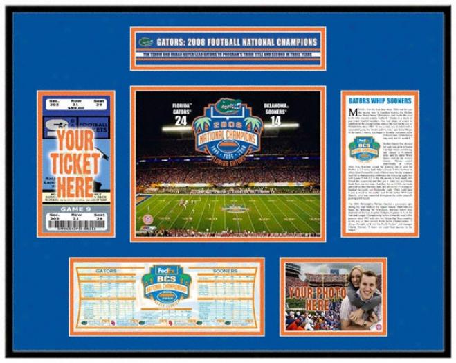 Florida Gators 2008 Bcs Champions Tickeet Frame