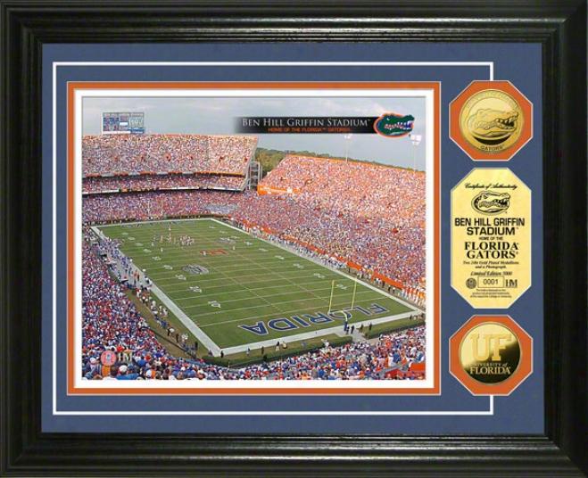 Florida Gators Ben Hill Grifin Stadium 24kt Gold Coin Photo Mint