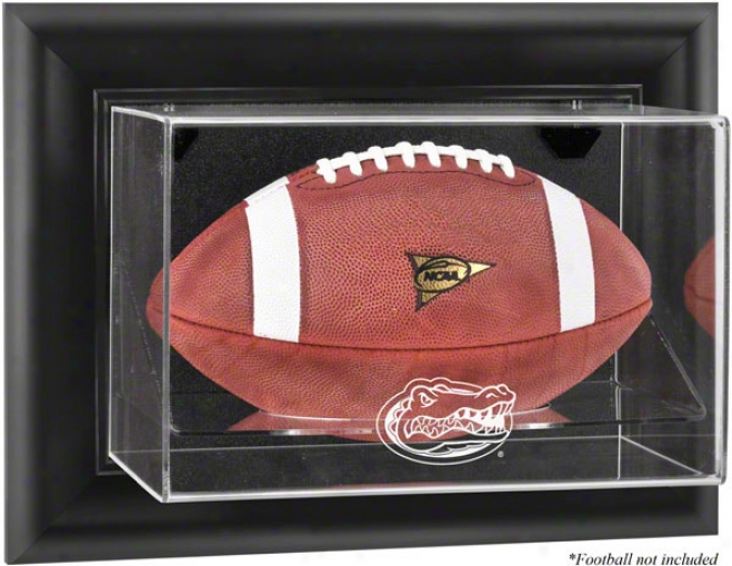 Florida Gators Framed Wall Mounted Logo Football Display Case