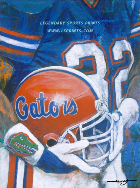 Florida Gators - &quotu Of F Helm Series&quot - Oversized Unframed Giclee