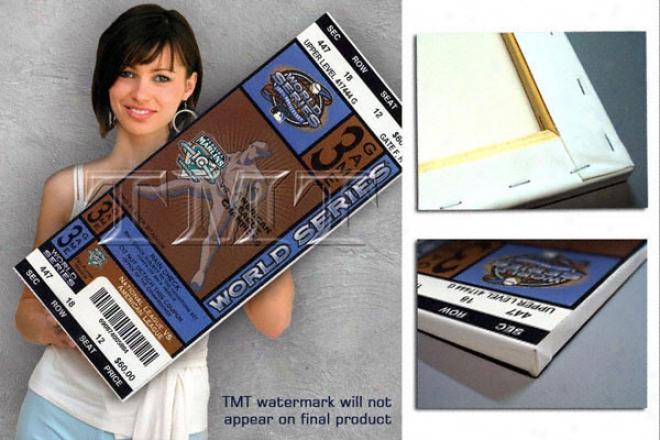 Florida Marlins 2003 World Series Game 3 Canvas Mega Ticket