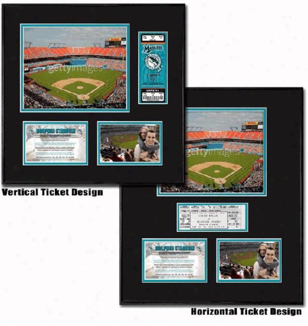 Florida Marlins Ballpark Ticket Frame