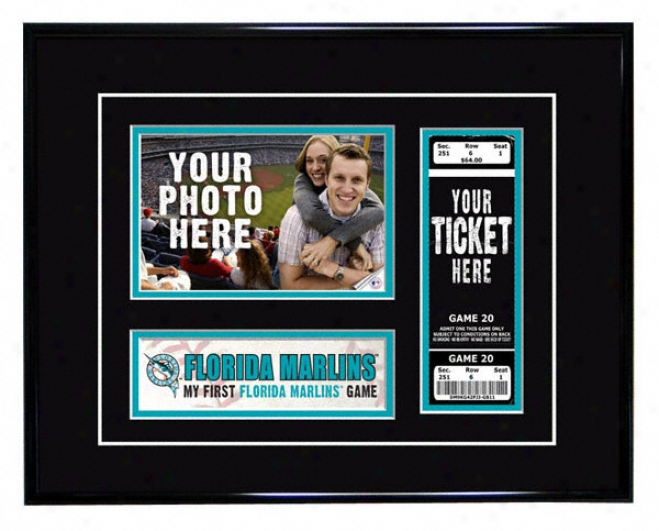 Florida Marlins - My First Game - Ticket Frame