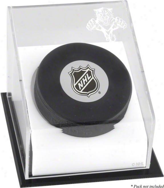 Florida Panthers Hockey Puck Logo Display Case