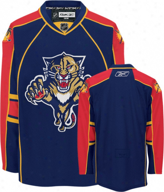 Florida Panthers -navy- Authentic Rbk Edge Jersey