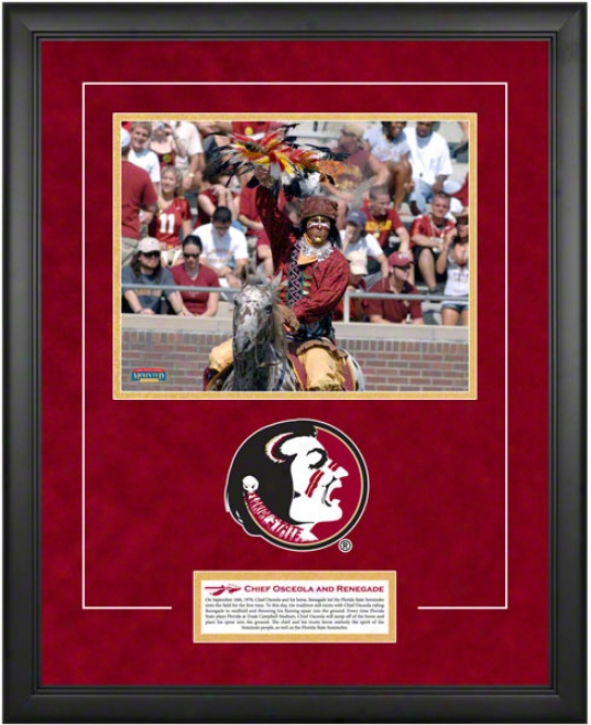 Florida State Seminoles 18x22 Framed Tradition Plaque  Details: Chief Osceola