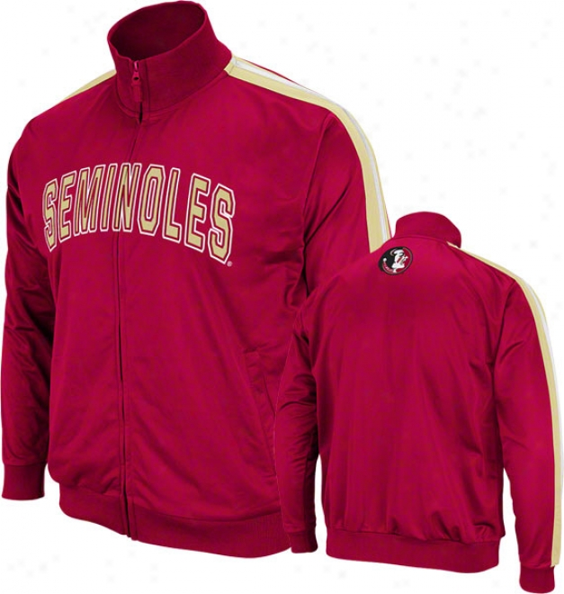 Florida State Seminoles Burgundy Pace Track Jacket