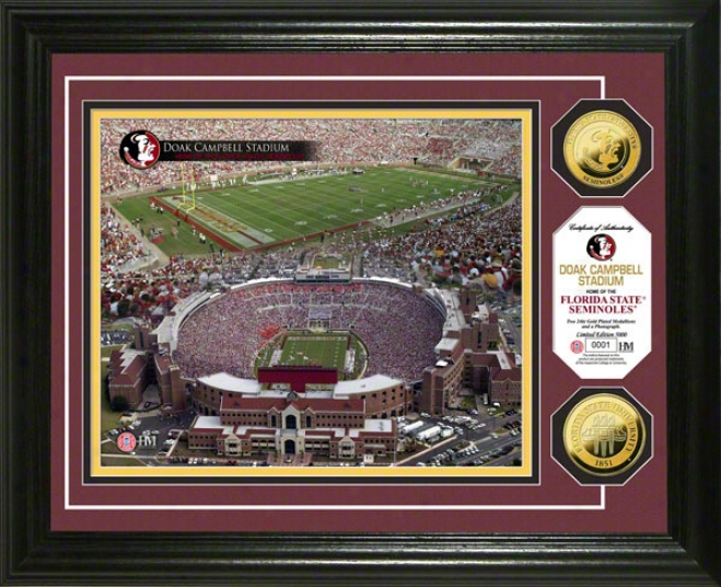 Florida State Seminoles Doak Campbell 24kt Gold Coin Photo Mint