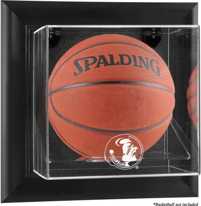 Florida State Seminoles Framed Wall Mounted Logo Basketball Display Case
