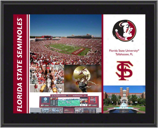 Florida StateS eminoles Plaque  Details: Sublimated, 10x13, Ncaa Plaque