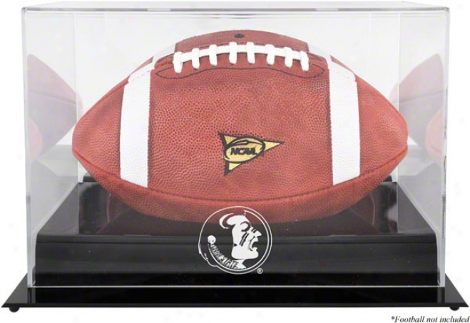 Florida State Seminoles Team Logo Football Display Case  Particulars: Black Base