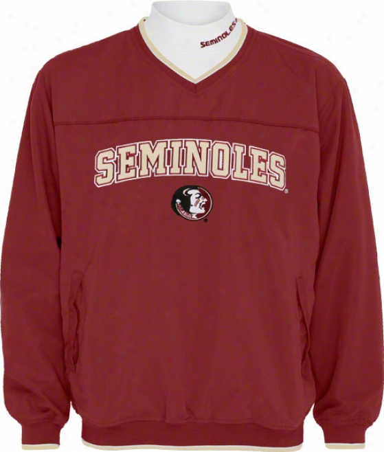 Florida State Seminoles Windshirt/long lSeeve Mockneck Combo Pack
