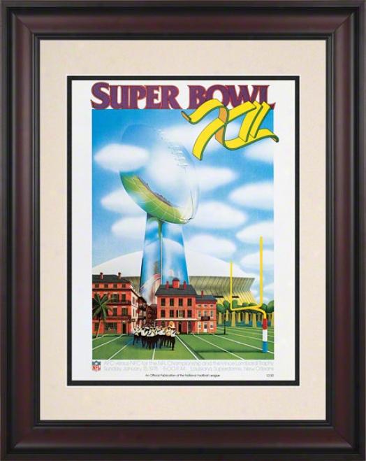 Framed 10.5 X 14 Super Bowl Xii Program Prinf  Details: 1978, Cowbohs Vs Broncos