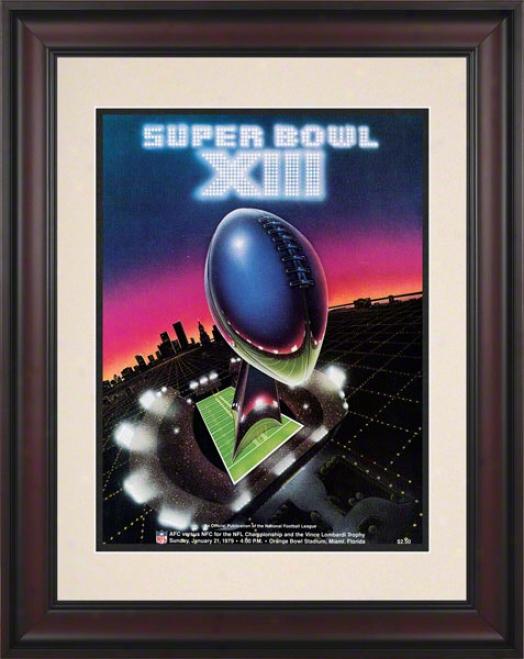 Framed 10.5 X 14 Super Hollow Xiii Program Print  Details: 1979, Steelers Vs Cowboys