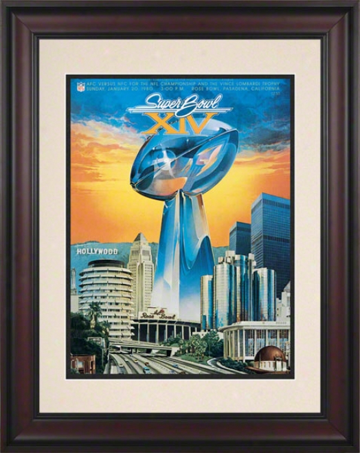 Framed 10.5 X 14 Super Bowl Xiv Program Print  Details: 1980, Steele5s Vs Rams