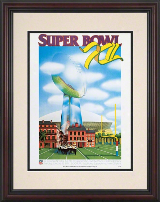 Framed 8.5 X 11 Super Bowl Xii Program Print  Detaila: 1978, Cowboys Vs Broncos
