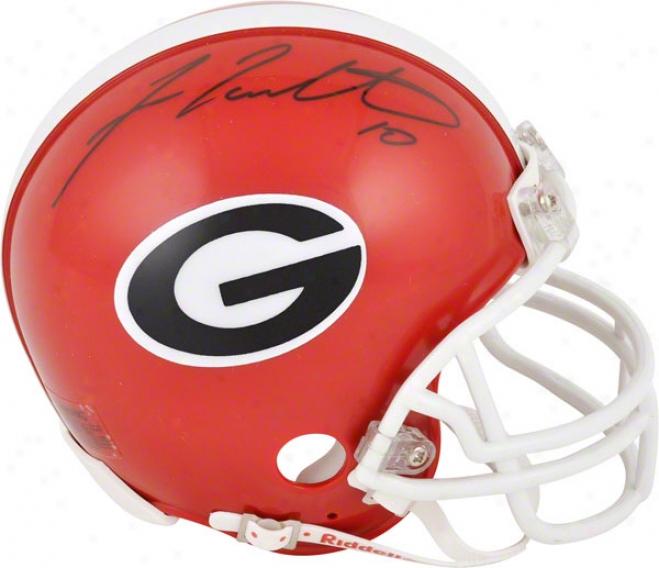 Fran Tarkenton Georgia Bulldogs Autographed Mini Helmet