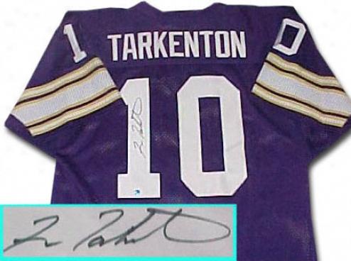 Fran Tarkenton Minnesota Vikinggs Autographed Throwback Purple Jersey