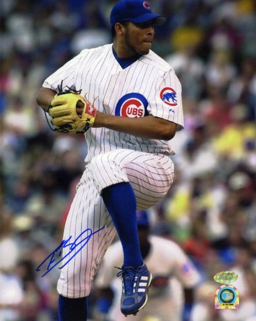 Francis Beltran Chicago Cubs 8x10 Autographed Phot0graph