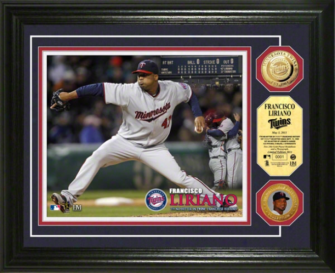 Francisco Liriano Minnesota Twins &quotno Hitter&quot 24kt Gold Coin Photo Mint