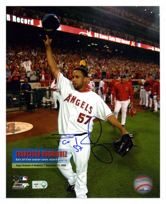 Francisco Rodriguez Los Angeles Angels Autographed 8x10 Photograph Taken 9-13-08