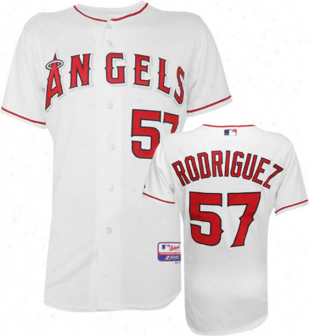 Francisco Rodriguez Majestic Home Authentic Onfield Impudent Base Los Angeles Angels Of Anaheim Jersey