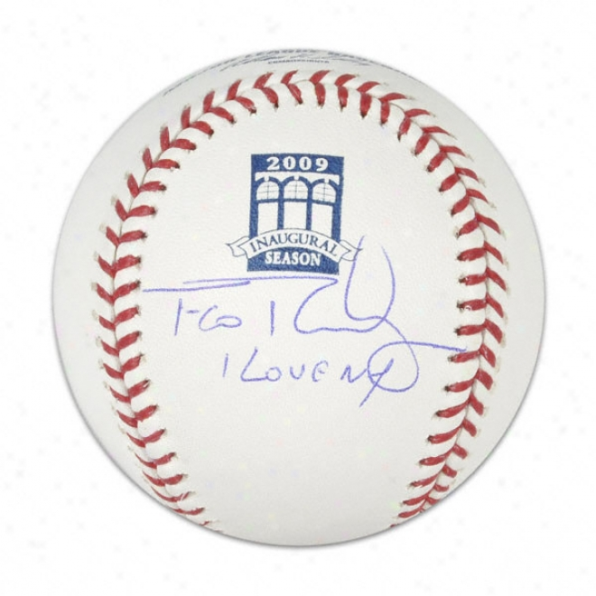 Francisco Rodriguez New York Mets Aut0graphed Basebal W/ Inscription &quoti Love Ny&quot