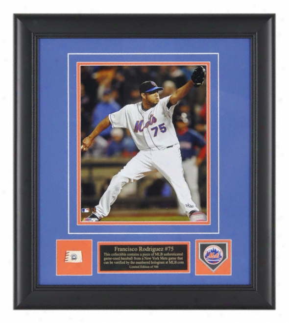 Francisco Rodriguezã'â Photograph - New York Mets Fraamed 8x10 Picture With Team Medallion And Game Used Baseball