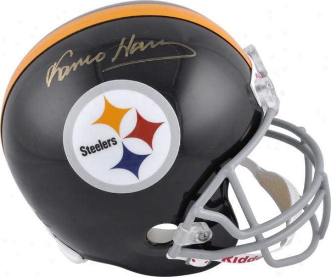 Franco Harris Autograped Helmet  Detail: Pittsburgh Steelers, Riddeli Replica Helmet