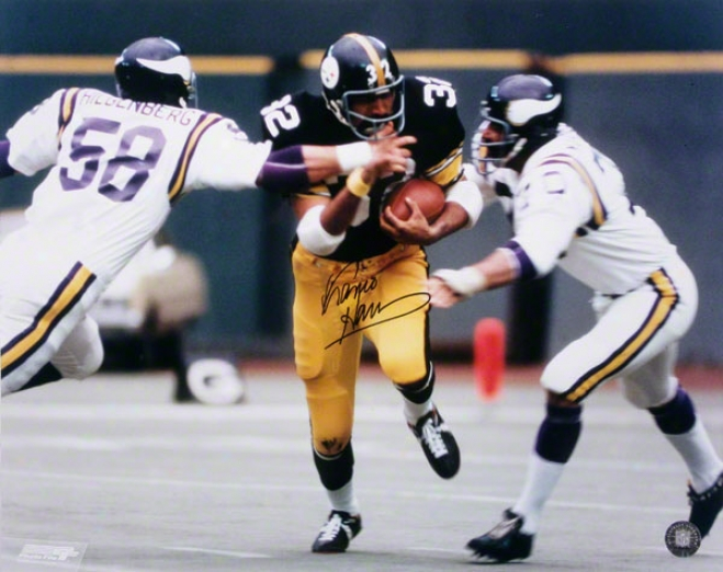 Franco Harris Autographed Photograph  Details: Pittsburgh Steelers, 16x20