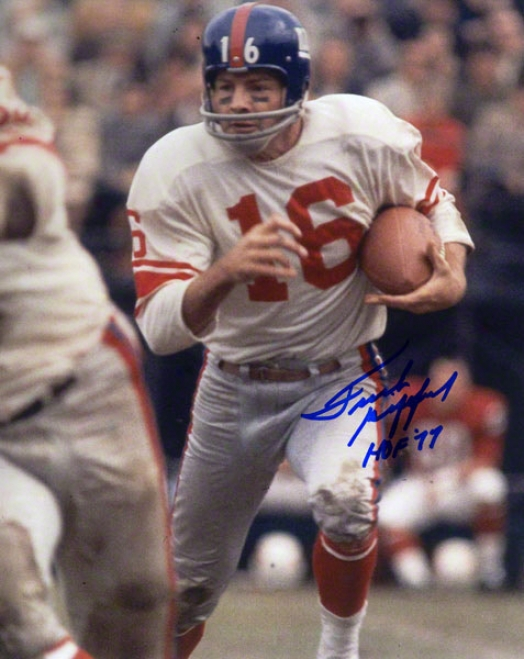 Frank Gifford Autographed 8x10 Photograph  Particulars: New York Giants, By the side of &quothof 77&quot Ijscription