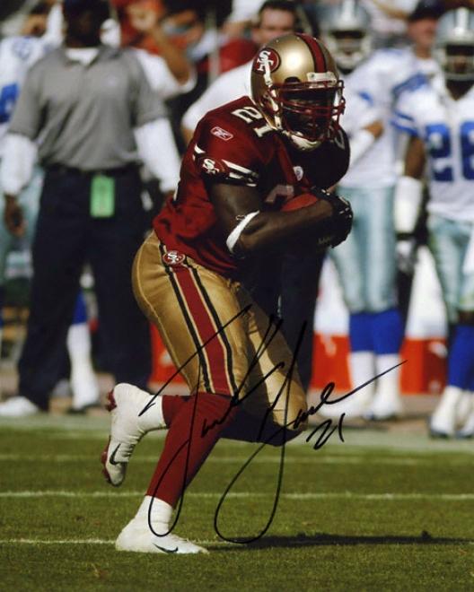 Ffank Gore San Framciqco 49ers Autographed 8x10 Photograph