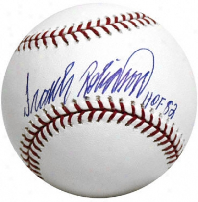 Frank Robinson Autographed Baseball  Details: Hof Inscription