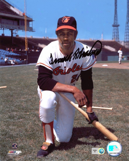 Frank Robinson Baltimore Orioles - Kneeling - Autographed 8x10 Photograph