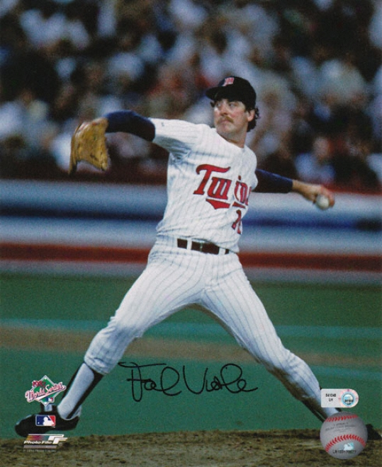 Frank Tenor-viol Minnesota Twins - Pitching - Autographed 8x10 Photograph