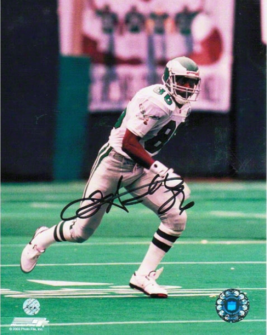 Fred Barnett Philadelphia Eagles Autographed 8x10 Photo Getting Open