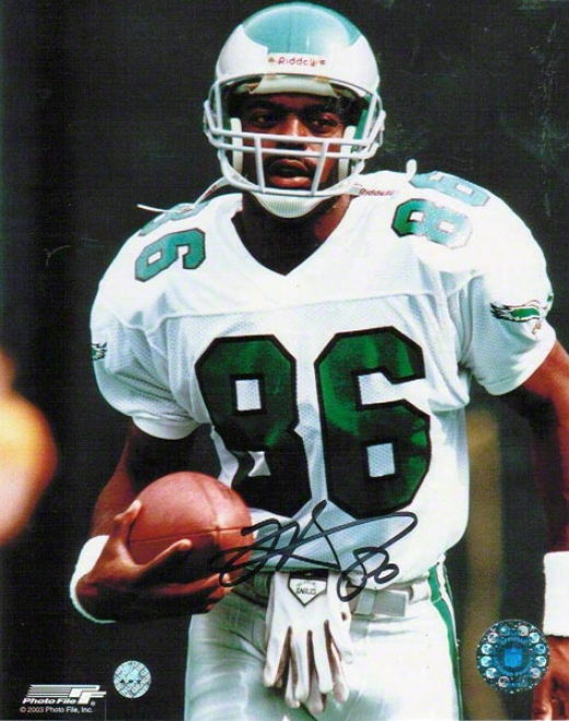 Fred Barnett Philadelphia Eagles Autographed 8x10 Photo Running With The Ball