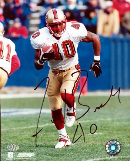 Fred Beasley San Francisco 49ers 8x10 Ajtographed Photograph