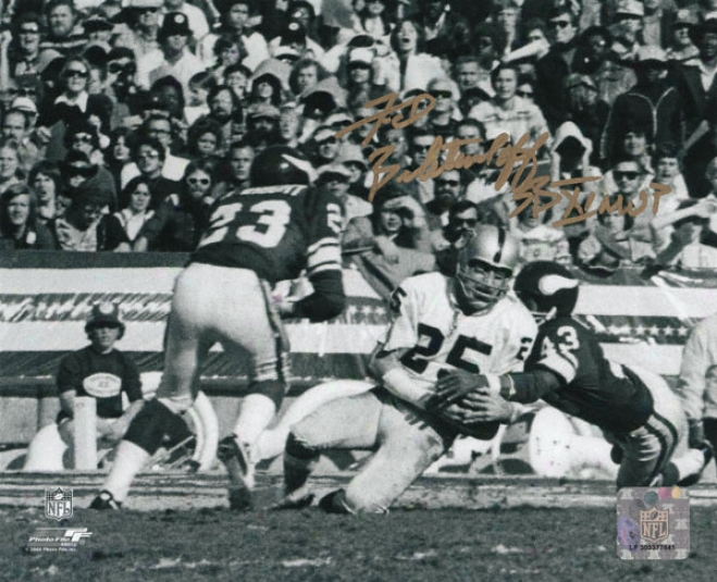 Fred Biletnikoff Oakland Raiders - Catch - Autogfaphed 8x10 Photograph Wigh Sb Xi Mvp Inscription