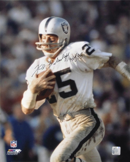 Fred Biletnikoff Oakland Raiders -running- Autographde 16x20 Photograph With Hof 88 Inscription